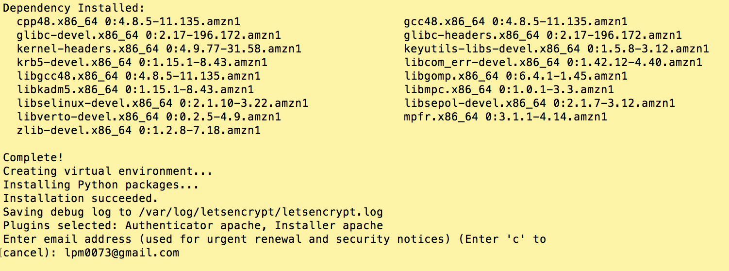 Letsencrypt on amazon linux apache lawrence mcdaniel certbot auto compiles a list of the virtual server sites that it finds in your apache configuration and 1betcityfo Gallery