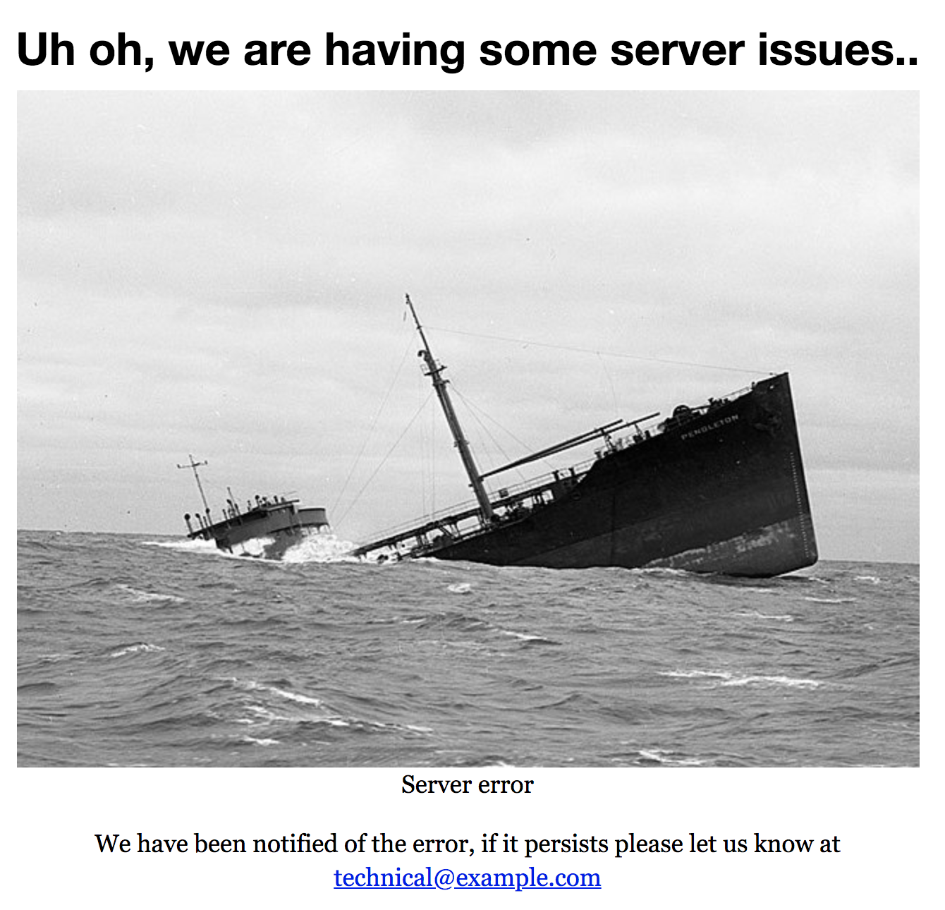 Oh oh, we are having some server issues...